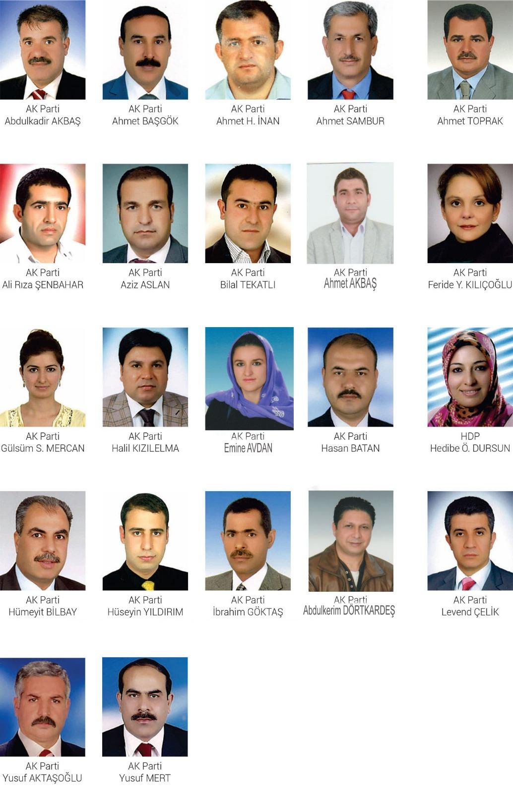 Eyyübiye Belediyesi Meclis Üyeleri